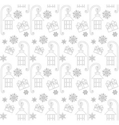 Christmas seamless pattern with gift box street vector