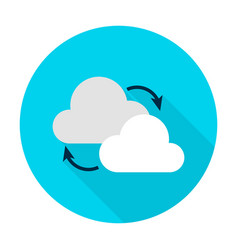 Cloud computing flat circle icon vector