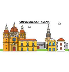 Colombia cartagena city skyline architecture vector