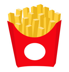 colorful french fries potato chips fast food icon vector image