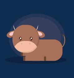 Cow cartoon design vector