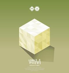 Cube logo vector image