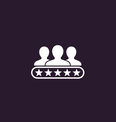 Customer review consumer rating icon vector