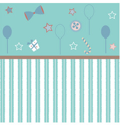 Cute girlish frame in pink with festive balloons vector