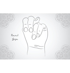 Element yoga Apan Vayu mudra hands with mehendi vector