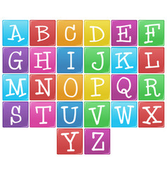 English alphabet from a to z vector