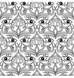 Ethnic eyes seamless pattern ornamental abstract vector