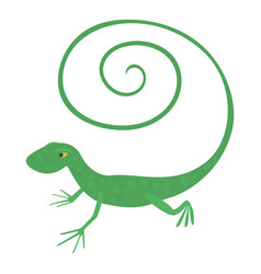 fast lizard icon cartoon style vector image