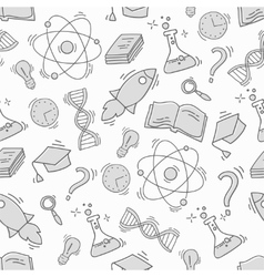 Hand Drawn Science seamless pattern vector