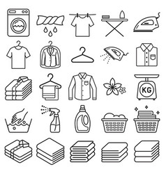 Laundry service icons vector