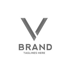 letter v strong logo vector image