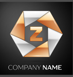 Letter z logo symbol in the colorful hexagon on vector