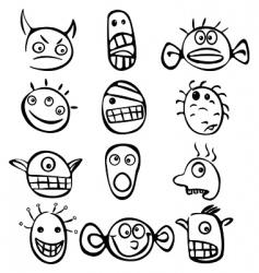 Little monsters vector