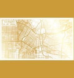 Los angeles california usa city map in retro vector