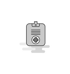 medical clipboard web icon flat line filled gray vector image