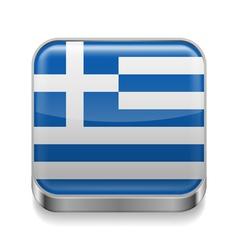 Metal icon of Greece vector image