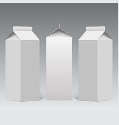 milk or juice carton packaging package box vector image