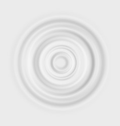 Milk ripple realistic circle waves on white vector