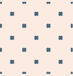minimalist geometric floral seamless pattern vector image