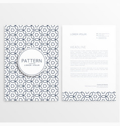 modern letterhead design template with abstract vector image
