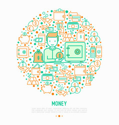 money concept in circle vector image
