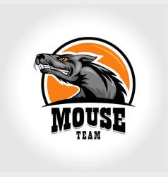 Mouse sports emblem logo vector