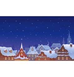 Old town christmas vector image