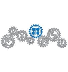 OPEC gears vector