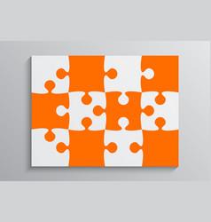 Orange piece puzzle banner 12 step background vector