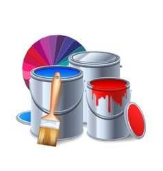 Painting Tools Composition vector image