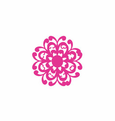 Pink beautiful flower logo and icon vector