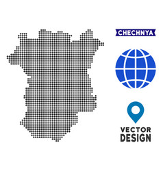 Pixelated chechnya map vector