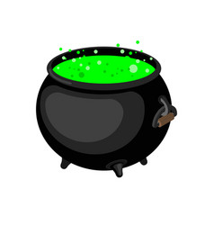 pot of magical potion isolated witch accessory vector image