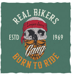 real bikers poster vector image