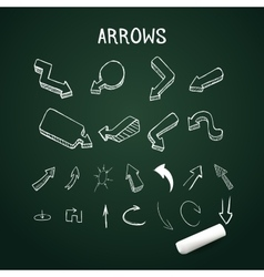 realistic up and down arrows with chalk vector image