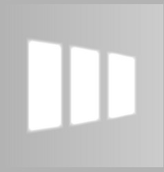 Realistic window light and shadow vector