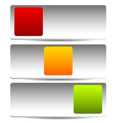 Rectangular button switch toggle in 3 state vector