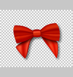 red ribbon 3d realistic ribbon isolated on vector image