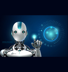 robot artificial intelligence technology smart vector image