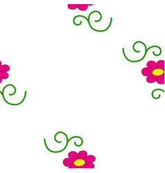 seamless of flowers vector image