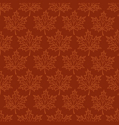 seamless pattern maple leaf vector image