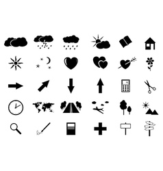 set of small icons vector image
