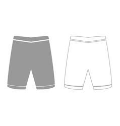 Shorts grey set icon vector
