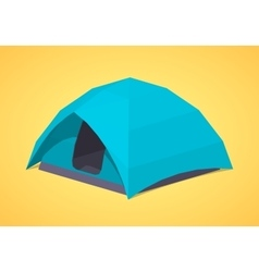 Sky-blue camping tents vector