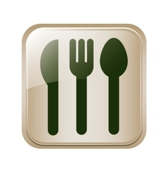 Square button set collection cutlery vector