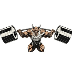 strong bull vector image