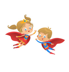superhero kids cartoon super vector image