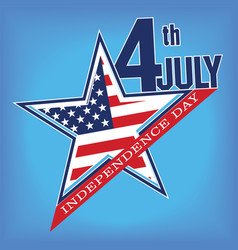 Symbol of july 4 independence day vector
