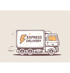 Truck free express delivery to customer vector