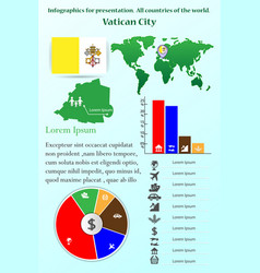 vatican city infographics for presentation vector image
